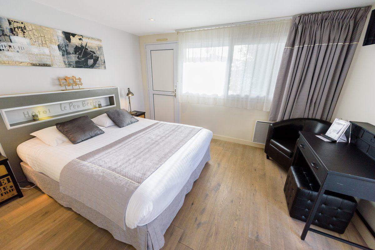 Chambre double Charme de l'hôtel Le Peu Breton sur l'île de Ré